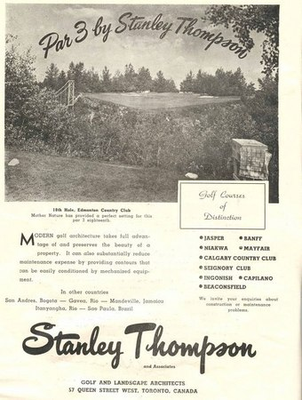 Printed Advertisement for Stanley Thompson & Associates